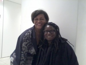 Carrie Mae Weems and Sandra Payne at Dawoud Bey's exhibition.