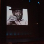 Albert Murray projected  photo by Patricia S. Jones